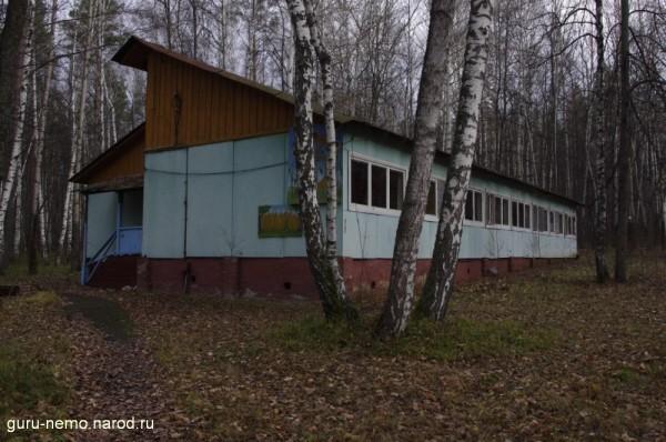 Один из когда-то жилых домиков